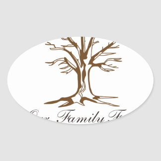 Our Family Tree Oval Sticker