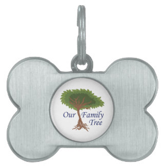 our family tree pet ID tag