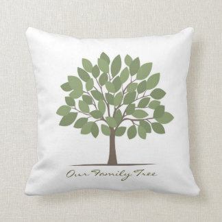 Our Family Tree Pillow - Large Leaves