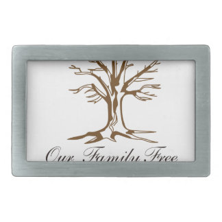 Our Family Tree Rectangular Belt Buckle