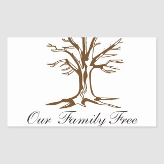 Our Family Tree Rectangular Sticker