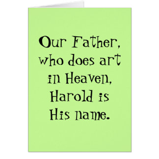 Our Father - art card