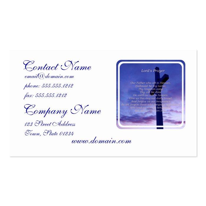 Our Father Business Cards