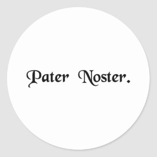 Our Father. Classic Round Sticker