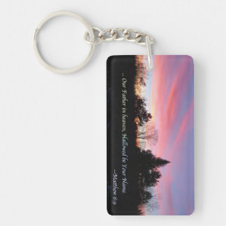 Our Father in heaven Double-Sided Rectangular Acrylic Keychain