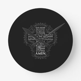 """""""Our Father"""" """"Lord's Prayer"""" """"Christian Gift Jesus Round Clock"""