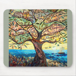 Our Father (Lord's Prayer) Colorful Mousepad