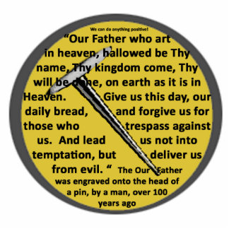 Our Father Lord s Prayer On Head Of Pin Brooch Photo Sculpture