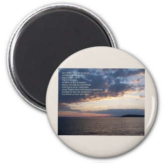 Our Father Prayer 2 Inch Round Magnet