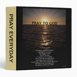 Our Father Prayer Vinyl Binders