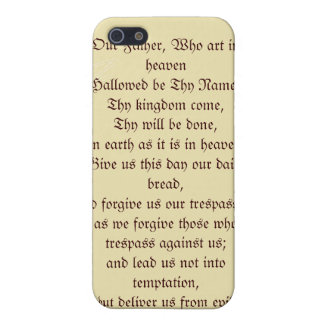 Our Father Prayer Case For iPhone 5