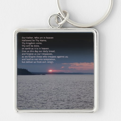 Our Father Prayer Key Chains