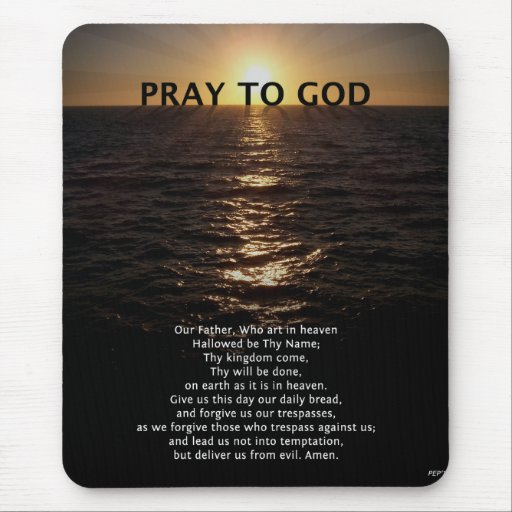 Our Father Prayer Mouse Pad