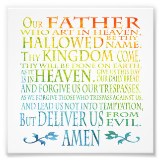 'Our Father' Prayer Photo Print