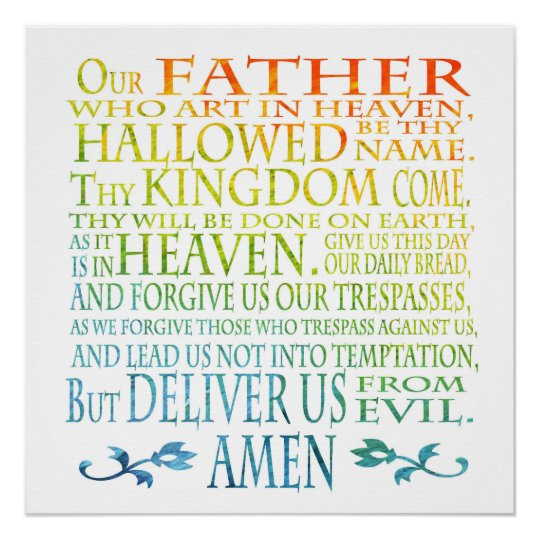 our father prayer poster zazzle com