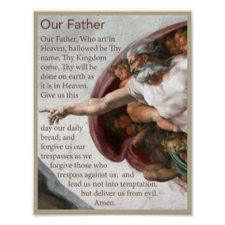 Our Father Prayer Poster