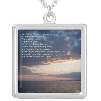 Our Father Prayer Silver Plated Necklace