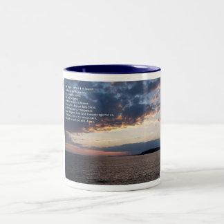 Our Father Prayer Two-Tone Coffee Mug