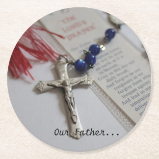 Our Father Round Paper Coaster