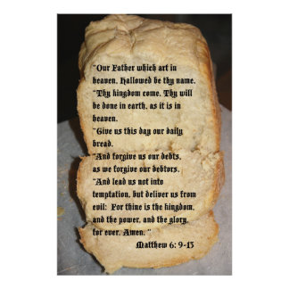 Our Father Scripture Poster