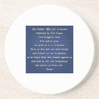 Our Father The Lord's Prayer Beverage Coasters