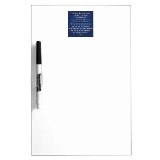 Our Father The Lord's Prayer Dry-Erase Whiteboard