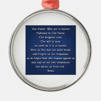 Our Father The Lord's Prayer Christmas Tree Ornament