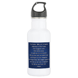 Our Father The Lord's Prayer 18oz Water Bottle
