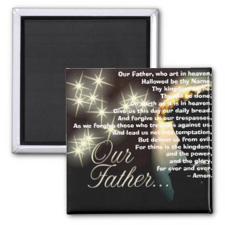 Our Father, who art in heaven 2 Inch Square Magnet
