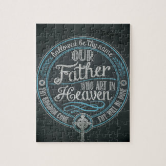 """""""Our Father Who Art In Heaven"""" Christian Gift God Jigsaw Puzzle"""