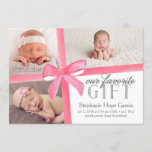 Our Favorite Gift Birth Announcement First Holiday