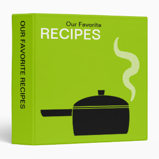 Our Favorite Recipes (1.5in) - Martian Green 3 Ring Binder