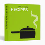 Our Favorite Recipes (1in) - Martian Green 3 Ring Binders