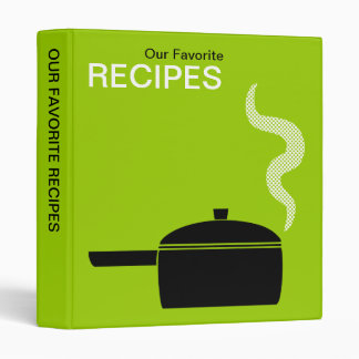 Our Favorite Recipes (1in) - Martian Green Binder