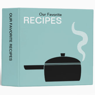 Our Favorite Recipes (2in) - Lt Blue Green Binder