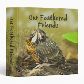 Our Feathered Friends Vinyl Binder