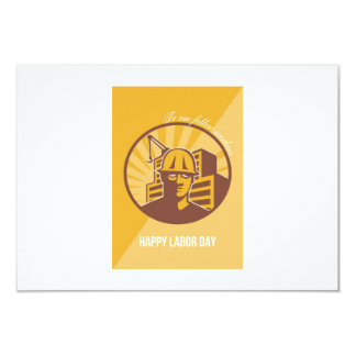 Our Fellow Workers Labor Day Poster Retro 9 Cm X 13 Cm Invitation Card