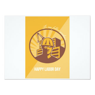 Our Fellow Workers Labor Day Poster Retro 17 Cm X 22 Cm Invitation Card