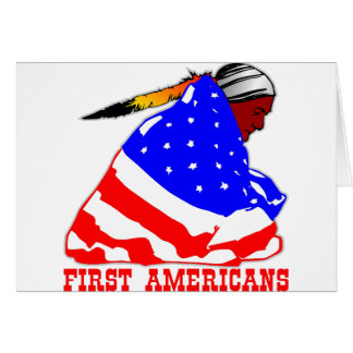 Our First Americans Greeting Card