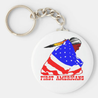 Our First Americans Basic Round Button Keychain
