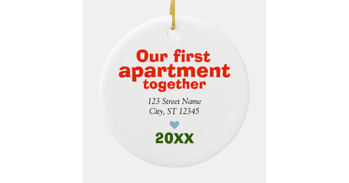 Our first apartment together ornament zazzle for First apartment ornament