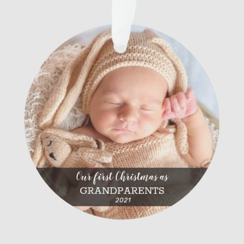Our First Christmas As Grandparents | Baby Photo Ornament