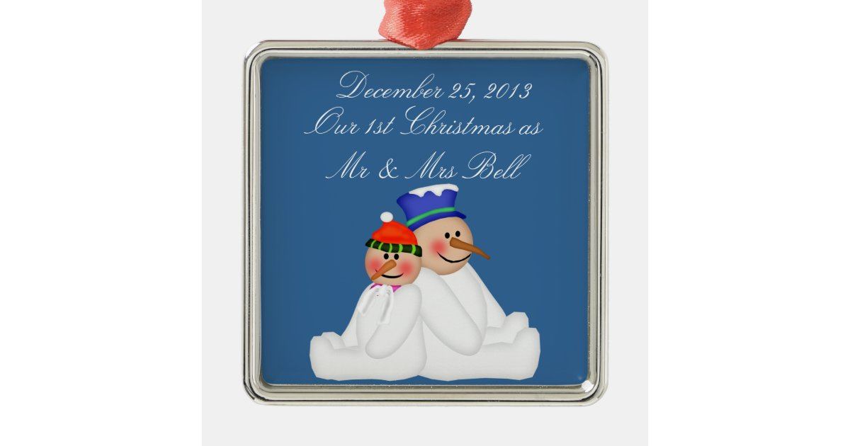 Our First Christmas As Mr And Mrs Ornament