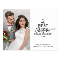 Our First Christmas as Mr and Mrs Photo Postcard