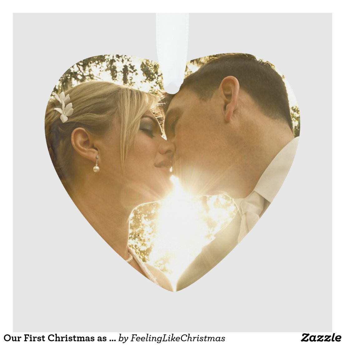 Our First Christmas as Mr and Mrs Wedding Photo Ornament