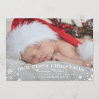 Our First Christmas Birth Announcement Card