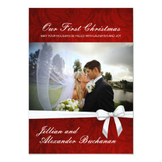 """Our First Christmas Cards invitations 5"""" X 7"""" Invitation Card"""