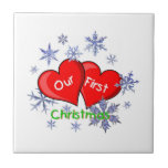 Our First Christmas Ceramic Tiles