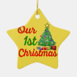 our first christmas decoration tree star ornament