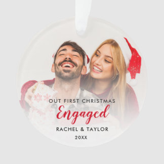 Our First Christmas Engaged Couple Ornament